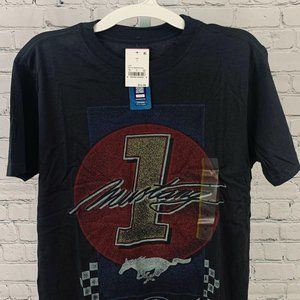 FORD MUSTANG SHORT SLEEVE T-SHIRT S GRAY